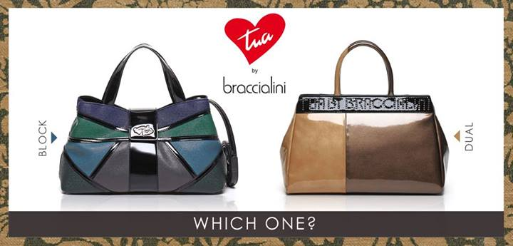 Borse Braccialini: collezione Block o Dual?