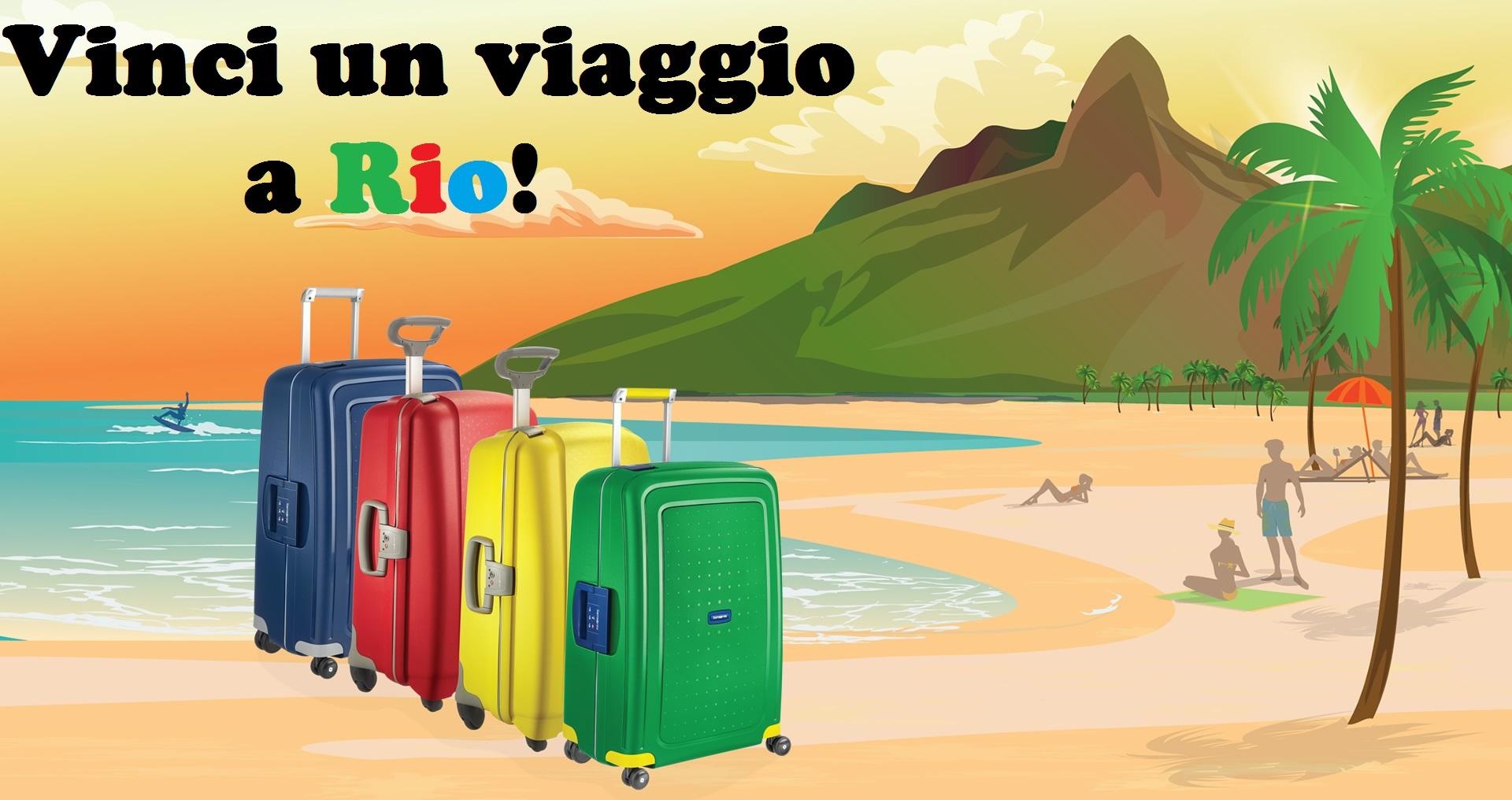 Vinci un viaggio a Rio con Samsonite
