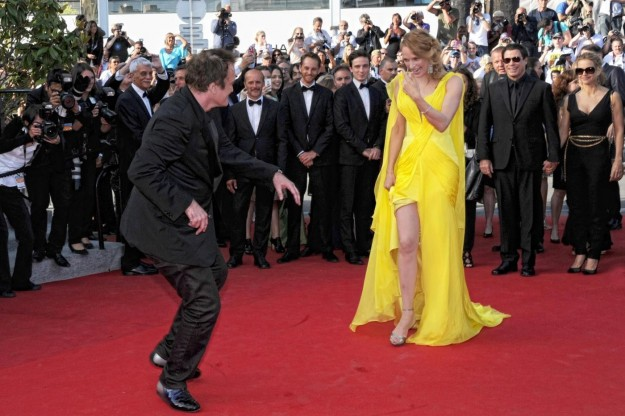 Uma Thurman e Quentin Tarantino al Festival di Cannes