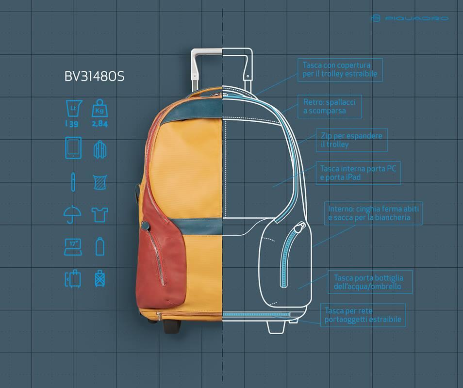 Piquadro hand luggage